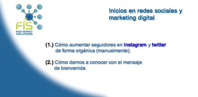 FIS - inicios en redes sociales y marketing digital
